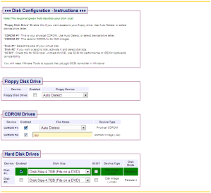 Disk Configuration