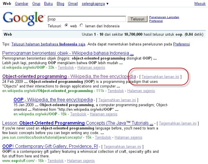 Tahukah Kamu: Google Bisa Menerjemahkan Halaman Web
